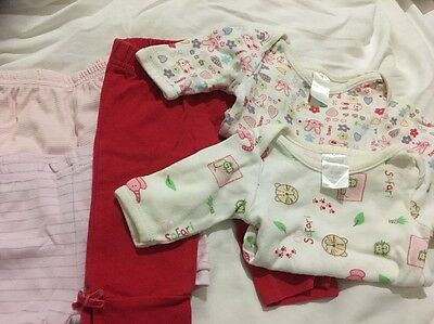 Baby Girl Long Sleeve suits, shorts, leggings Size 0000 newborn