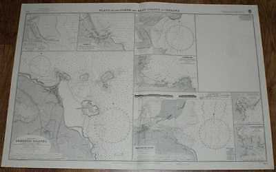 Nautical Chart No. 633 Plans on the North and East Coasts of Ireland, 1967