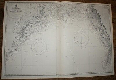 Nautical Chart No. 829. Bay of Bengal. Cocanada - Bassein River 1:1,382,000 1968
