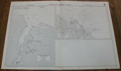 Nautical Chart No. 534. South America, Entrances to Rivers in Guiana 1:75,000