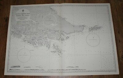 Nautical Chart No. 1373. S America, S.E. Part of Tierra del Fuego. 1:500,000