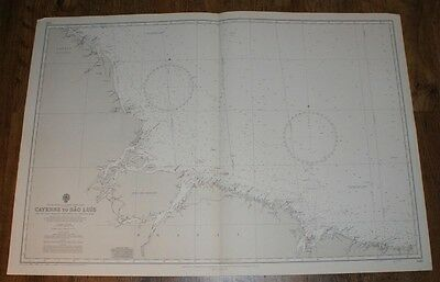 Nautical Chart No. 520. S America, N E Coast, Cayenne to Sao Luis. 1:1,500,000
