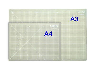 Cutting mat A4 & A3 Translucent with gauge: Ideal for use with Light box!