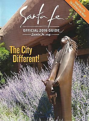 SANTA FE NEW MEXICO Official 2016 Guide Art MAPS Travel History Lodging Culture