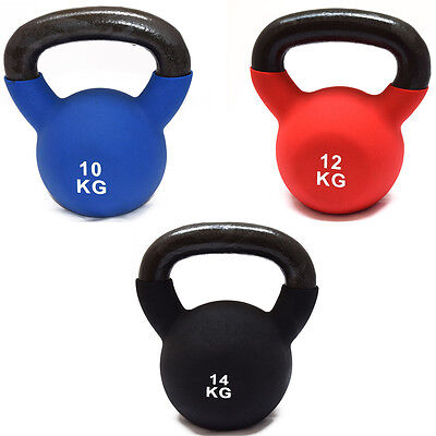 FXR SPORTS  IRON SET  10KG 12KG and 14KG KETTLEBELLS WITH RUBBER SLEEVE HOME GYM