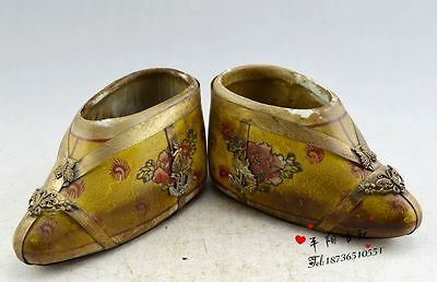 Collection handmade mosaic Miao silver - small porcelain shoes