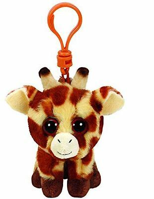 Peaches Giraffe - Ty Beanie Keyring Key Clip - Plush Boo Babies Toy Teddy