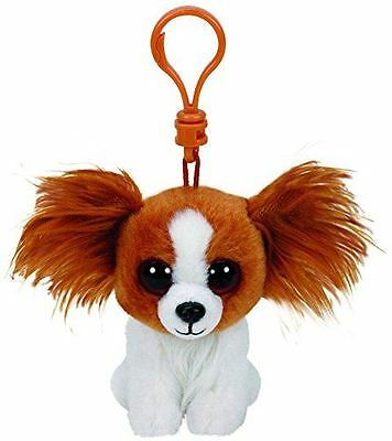Barks Dog - Ty Beanie Keyring Key Clip - Plush Boo Babies Toy Teddy