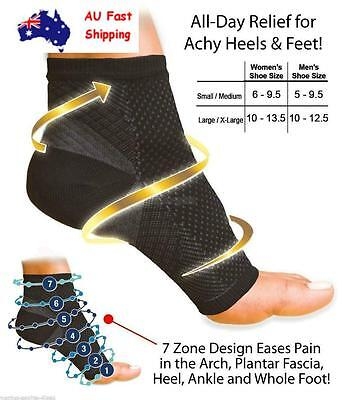 AU Foot Sleeve Plantar Fasciitis Compression Socks Sore Achy Swelling Heel Ankle
