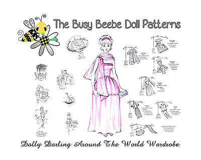 Dolly Darling Around The World Pattern Set For Barbie