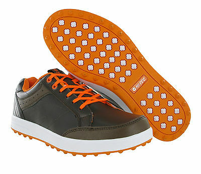 Hi-Tec HT Combi Leather Spikeless Water Resistant Mens Golf Trainers Shoes
