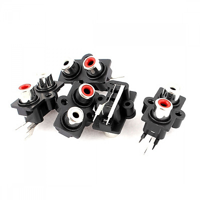 NEW 5pcs PCB Mount 2 Position Stereo Audio Video Jack RCA Female Connector