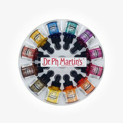 Dr Ph Martins Bombay Indian Ink - 12 x 30 ml (1 oz.) Set 2 - NEW style