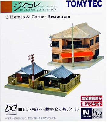 Tomytec 110-3 Two Homes & Corner Restaurant N Scale Unassembled Structure Kit