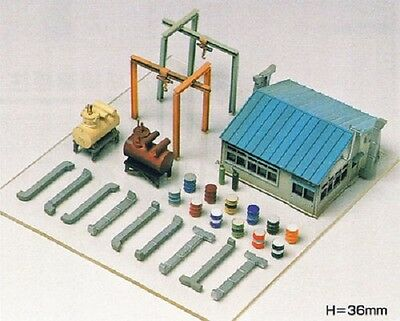 New 1 X N Gauge Greenmax No.2145 Factory Equipment Unassembled Structure Kit