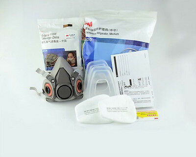3M 6200 N95 Double Gas Mask Protection Filter Chemical Respirator Mask *NEW*