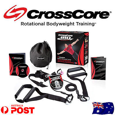 CrossCore 180 Complete Rotational Bodyweight Training Trainer Home Gym Train Kit