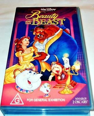 Beauty And The Beast Walt Disney Classic Children Video Pal Vhs Tape Movie