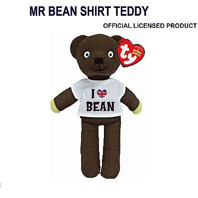 Official License Mr Bean Teddy Bear Soft Toy With I Love Bean T Shirt 9 Inch