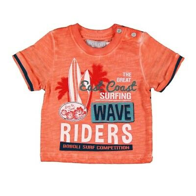 Bóboli Jungen T-Shirt Hawai orange Gr. 62 68 74 80 86 92