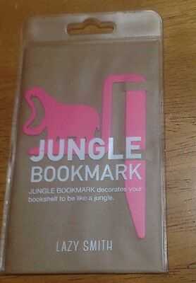 LAZY SMITH Jungle 'Punk Hippo' Solid Steel Bookmark *BNIP + Free Postage!!!!