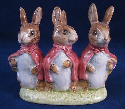 """Beswick Beatrix Potter's """"Flopsy Mopsy and Cottontail"""" 1954 - Excellent"""
