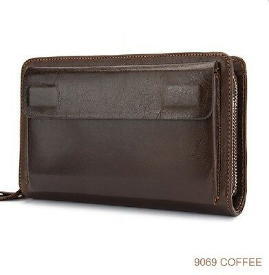 Superb genuine leather mens wallet organiser purse mens real leather wallet 9069