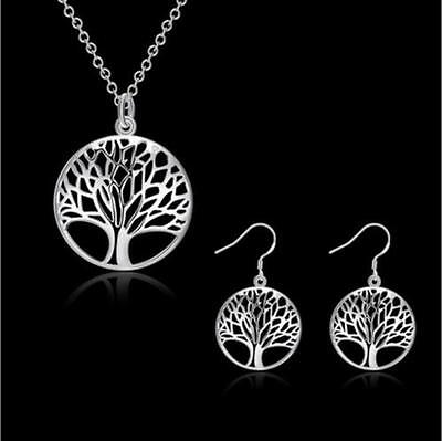 Fashion Tree Of Life Earrings Necklace Pendant Jewelry Charm Girl Women Gift New