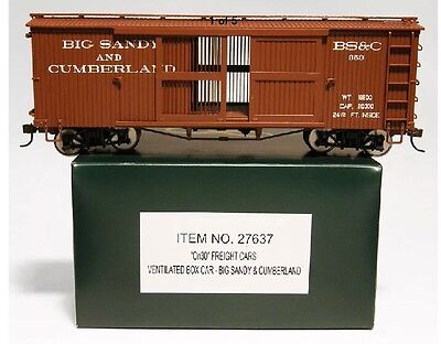 Spectrum On30 Freight Car Ventilated Boxcar Big Sandy And Cumberland Item 27637