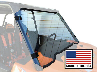 "RZR Full Windshield 900, 1000, Turbo Polaris Quick Straps 1/4"" Polycarbonate"