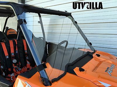 "RZR Full Windshield HARD COATED 900, 1000, Turbo Polaris 1/4"" Polycarbonate"