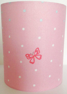 Butterfly Polka Dot Fabric Light Shade