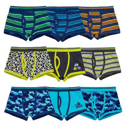 Boys Printed 3 Pack Key Hole Cotton Trunks Boxer Shorts Underwear Age 2 3 4 5 6