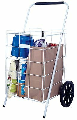 APEX Shopping Cart White 35-5/8 in. H x 21-5/16 in. W x 17-1/2 in. D