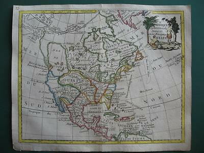 1780s - LAPORTE - Small map NORTH AMERICA Western Sea