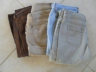 Lot 4 Pairs Ladies Capri's Size Womans 16 Jeanstar Faded Glory
