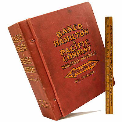Vintage BIG BOOK c.1930's BAKER, HAMILTON & PACIFIC CO. Stiletto GENERAL CATALOG