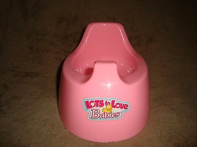 Lots to Love Babies Potty Chair pink Doll Accessory