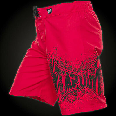 TapouT UFC Board / Fight Shorts NEW WITH TAGS UFC Red BOYS 11 - 12 YEARS