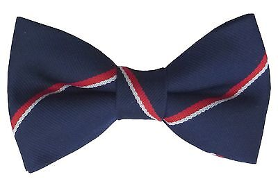 Royal Navy Regimental Stripe Bow Tie Rn