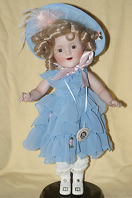 "Danbury Mint 14"" Porcelain Shirley Temple Doll EXCELLENT"