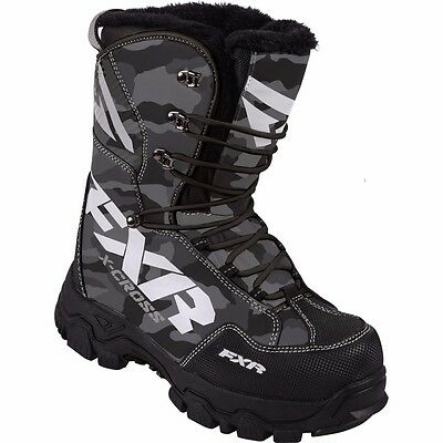 Fxr X-Cross Snowmobile Boots Water-Resistant Lace Lock Mens 11 Urban Camo Sale!