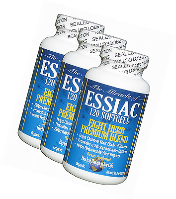 Essiac Tea Softgels, 796 mg, 3 Pack 360 Soft Gels, Eight Herb Essiac Tea, No Bre