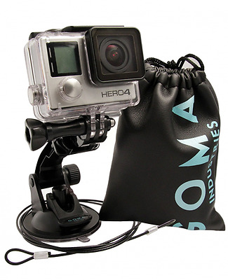 GOMA Industries Suction Cup Car Mount for GoPro Hero5// Session Hero4 Hero3 All