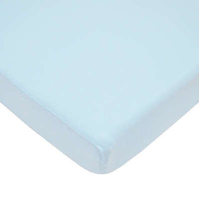 TL Care 100% Cotton Value Jersey Knit Fitted Portable/Mini-Crib Sheet, Blue