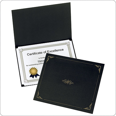Oxford Certificate Holders, Letter Size, Black, 5 per Pack (29900055BGD)
