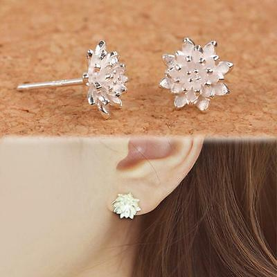 HOT Women 925 Sterling Silver Crystal Rhinestone Ear Stud Vintage Earrings Gift