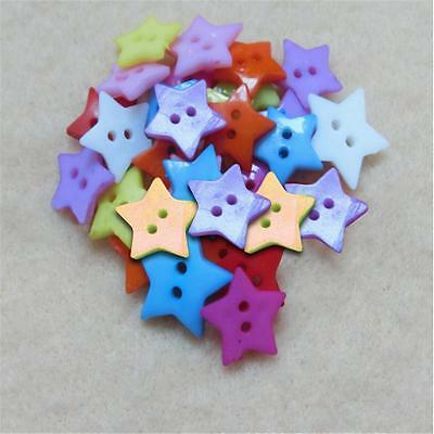 lot Bouton Etoile 12 mm Multicolore Scrapbooking Mercerie couture art décoration