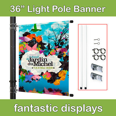 """36"""" Street Pole Banner Mounting Kit for Hemmed Banners with Pole Pockets"""