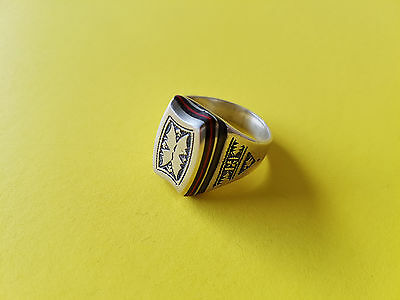 Handmade African Tuareg Ring Ethnic Tribal Jewelry Silver Gypsy Hippy Artisan